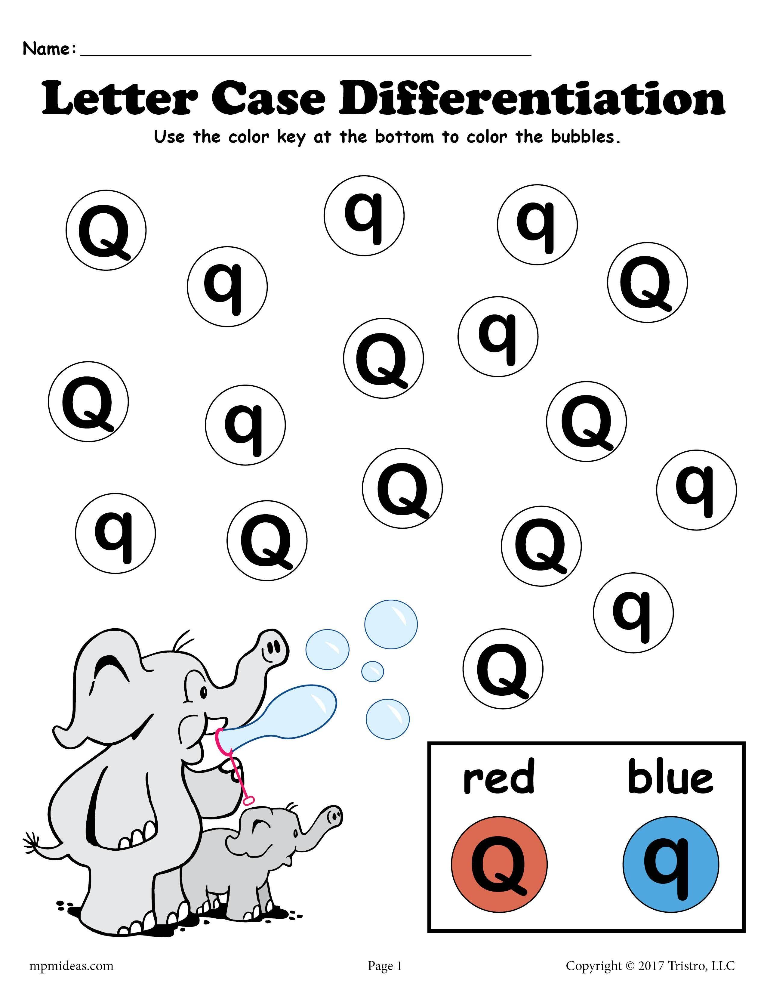 Letter Q Do A Dot Printables For Letter Case Differentiation Practice Letter Q Worksheets Letter E Worksheets Do A Dot [ 3300 x 2550 Pixel ]