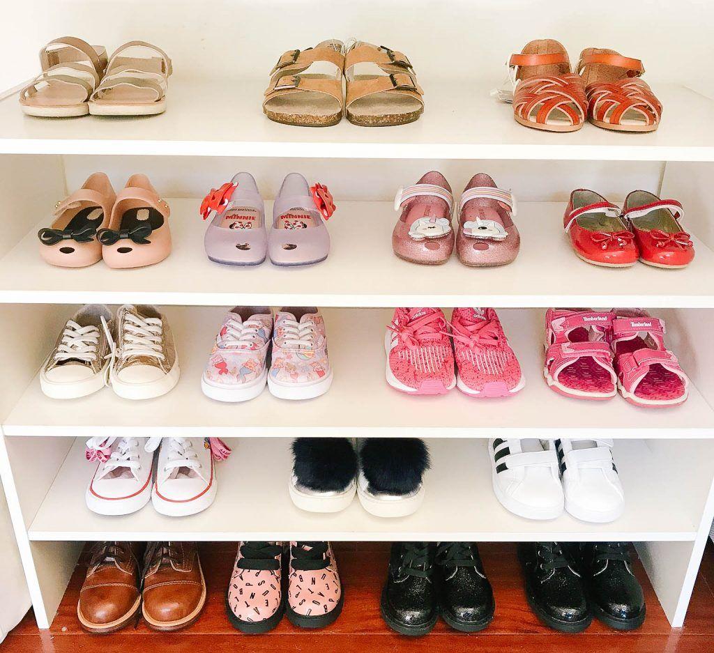 Joey And Casey S Closet Makeover Laura Iz Motherhood Lifestyle Blog Naptime With Joey Kids Shoe Organization Shoe Organization Closet Shoe Organizer