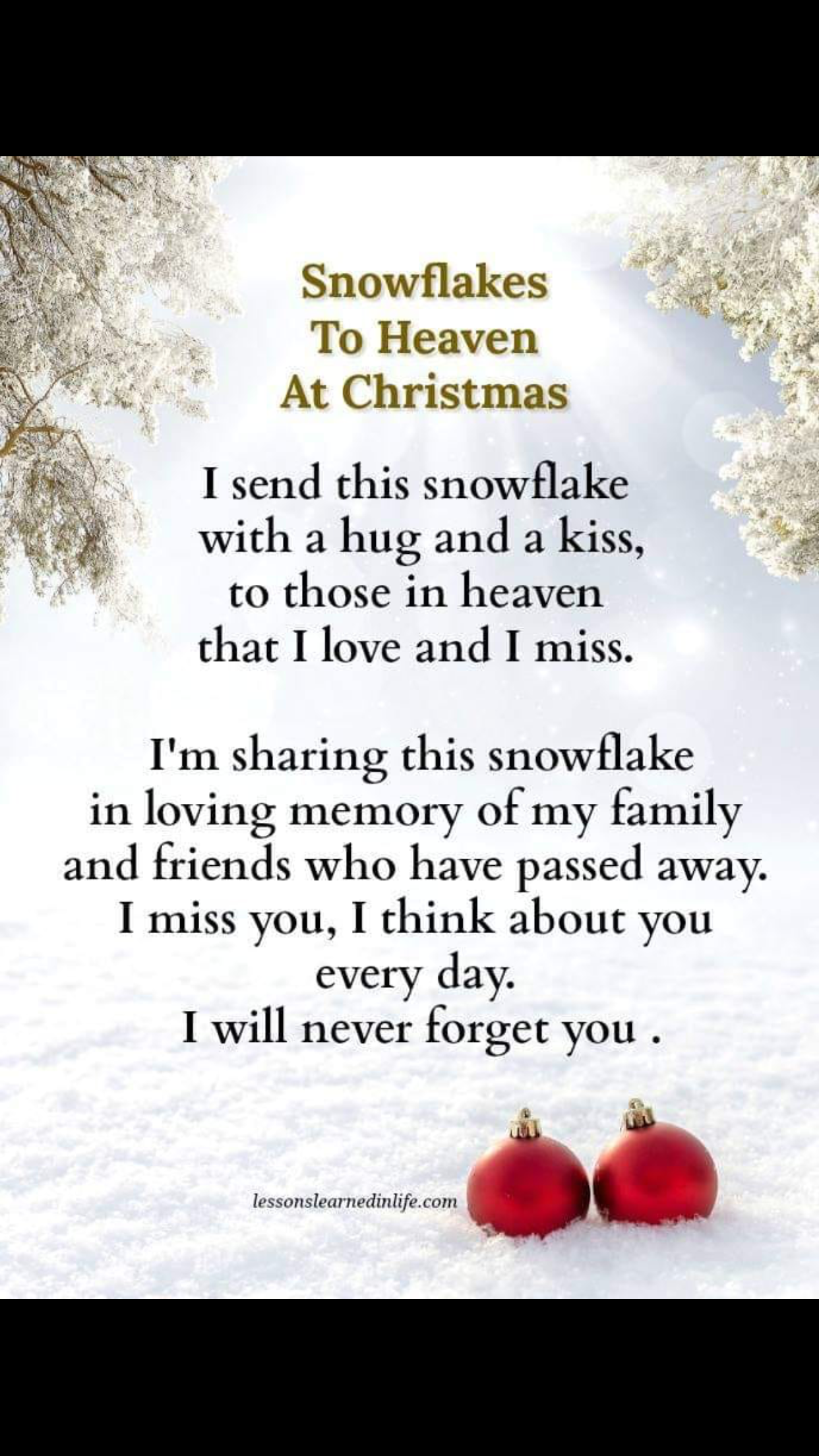 To Those I Love In Heaven... | For chunk and Richard with ...