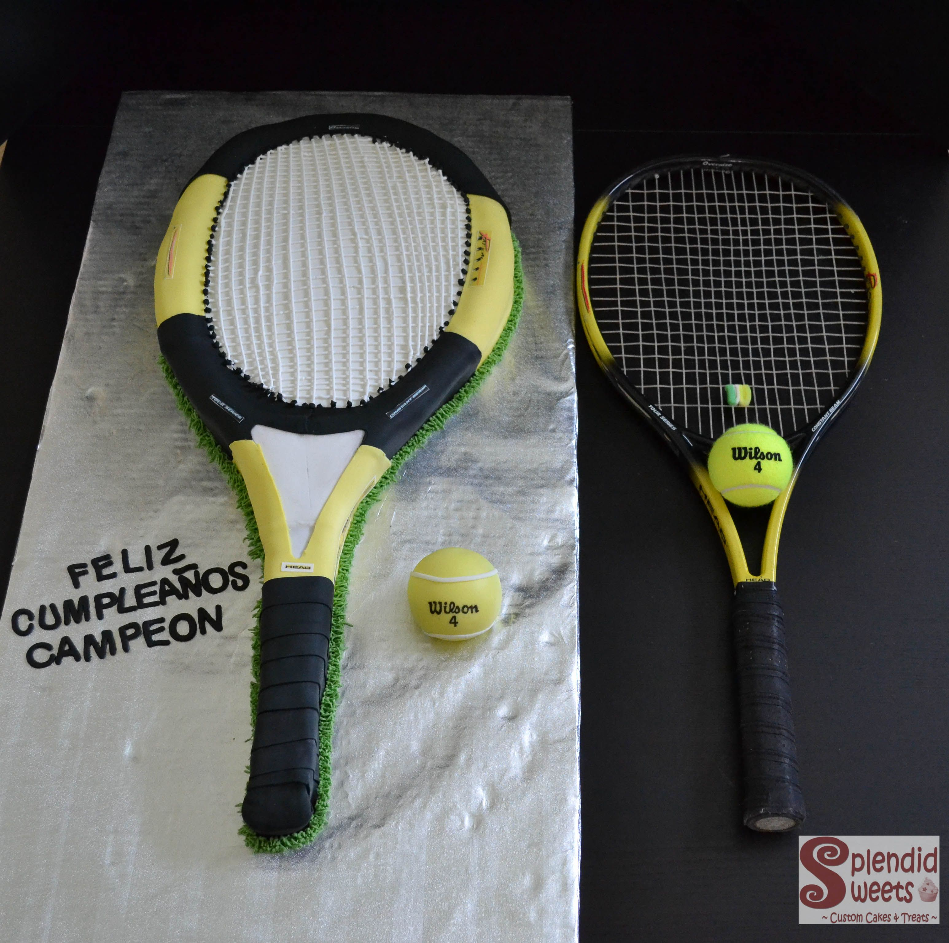 Tennis Racquet Cake Replica Of The Andre Agassi Head Radical Tour