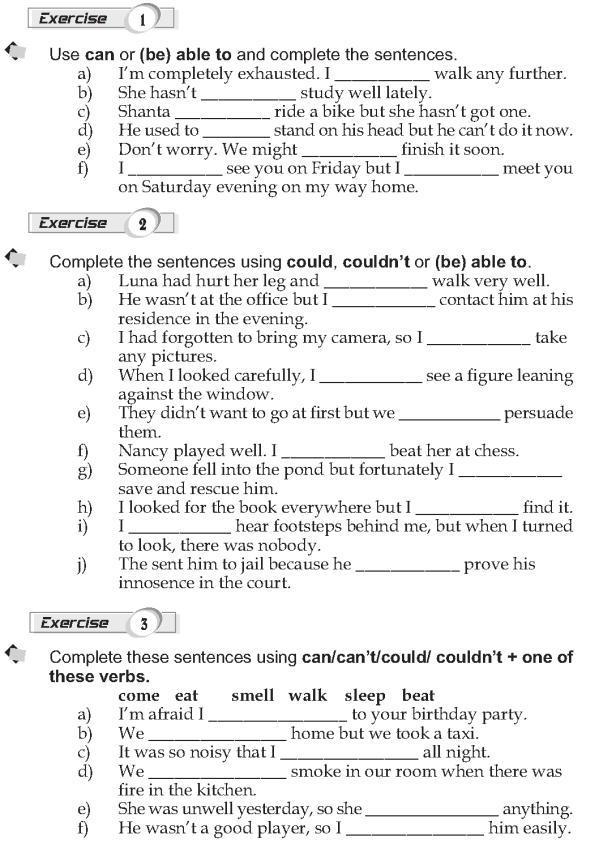 When Do We Use 'can'? What Is The Past Form Of 'can'? When Do We Use 'could'?  Grammar Lessons, Learn English, Grammar Exercises
