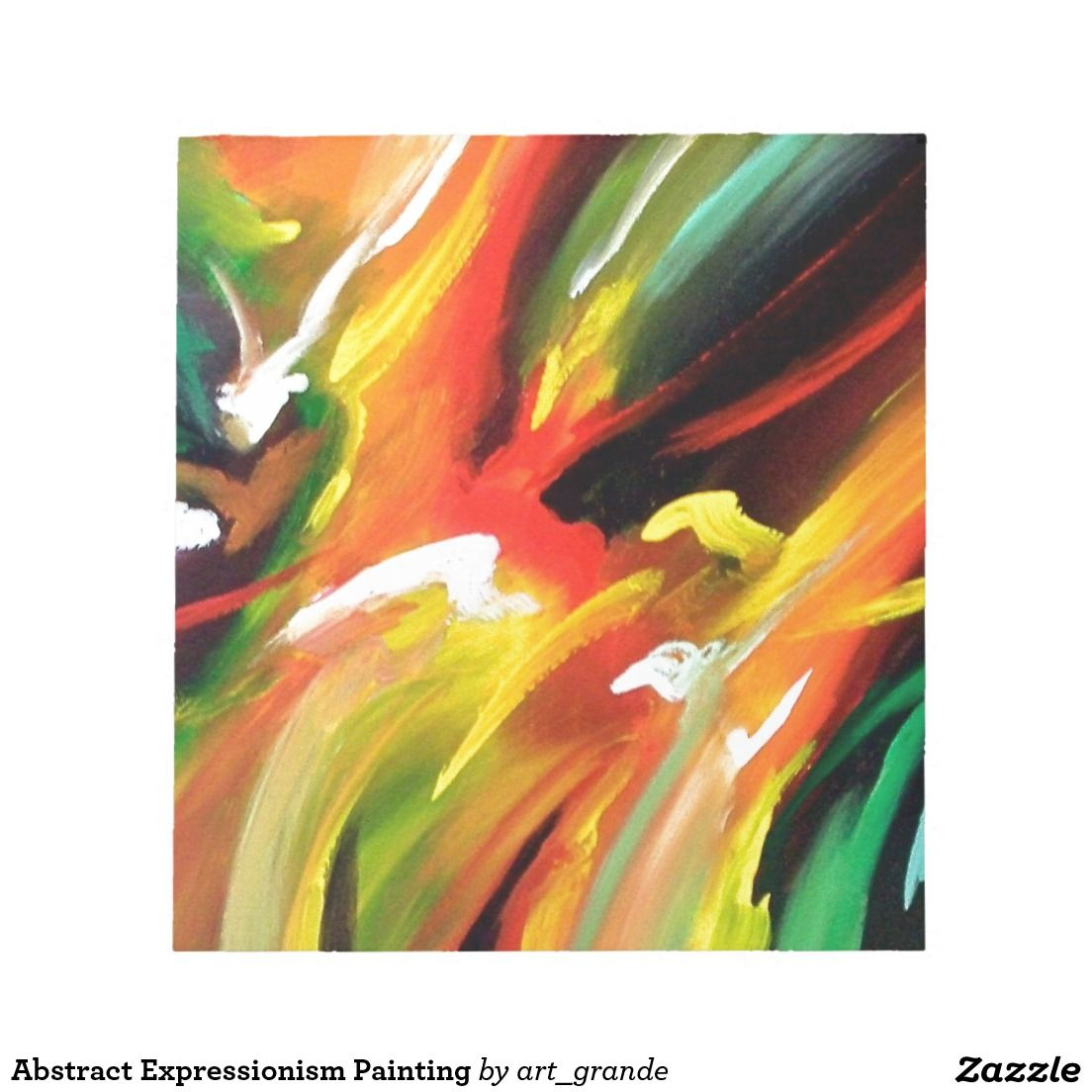 Abstract Expressionism Painting Note Pad