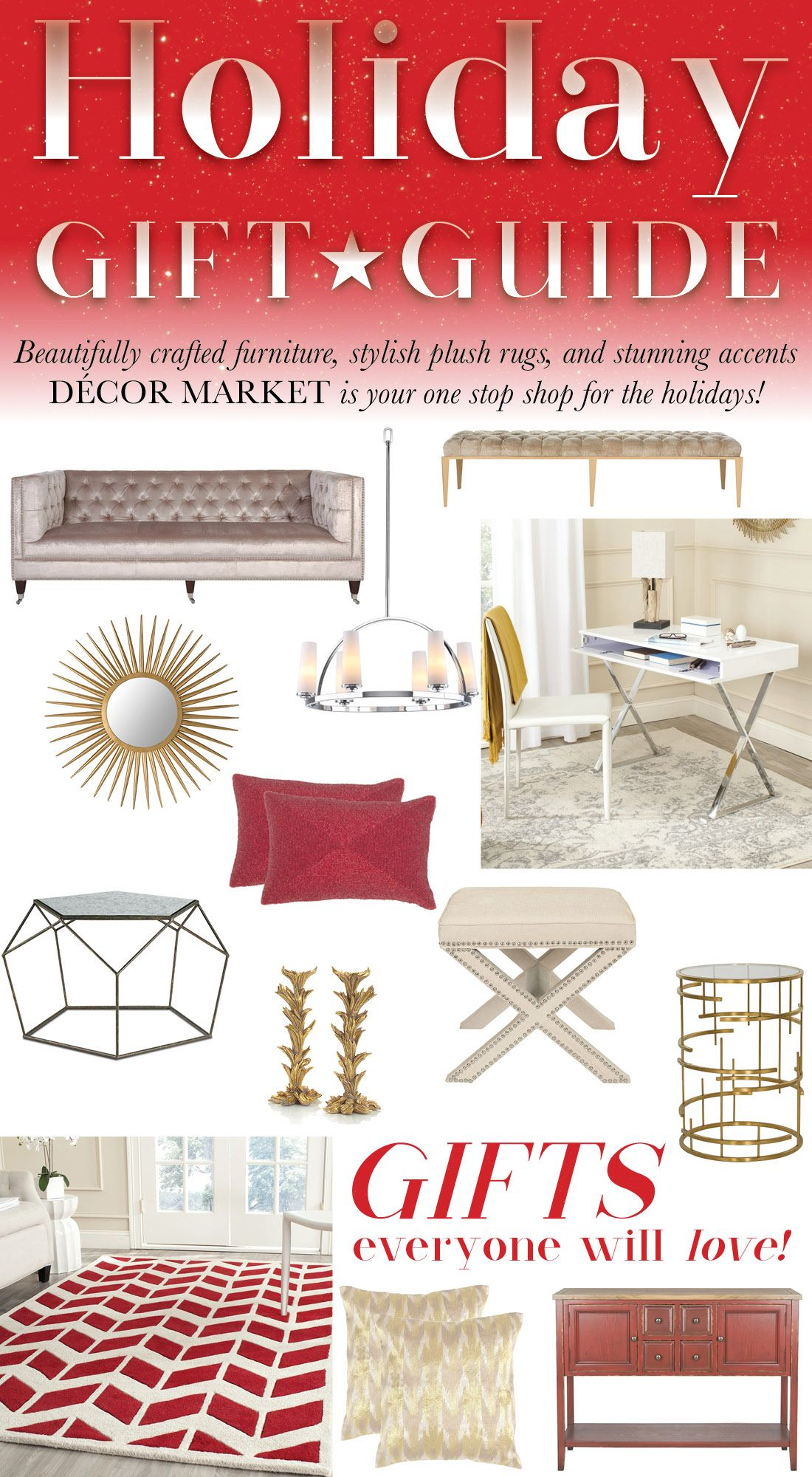 Our Holiday Gift Guide Has You Covered! Shop Great Deals On Furniture, Rugs  U0026 Home Accents For That Home Decor Lover In Your Life! SHOP NOW:  Decormarket.com