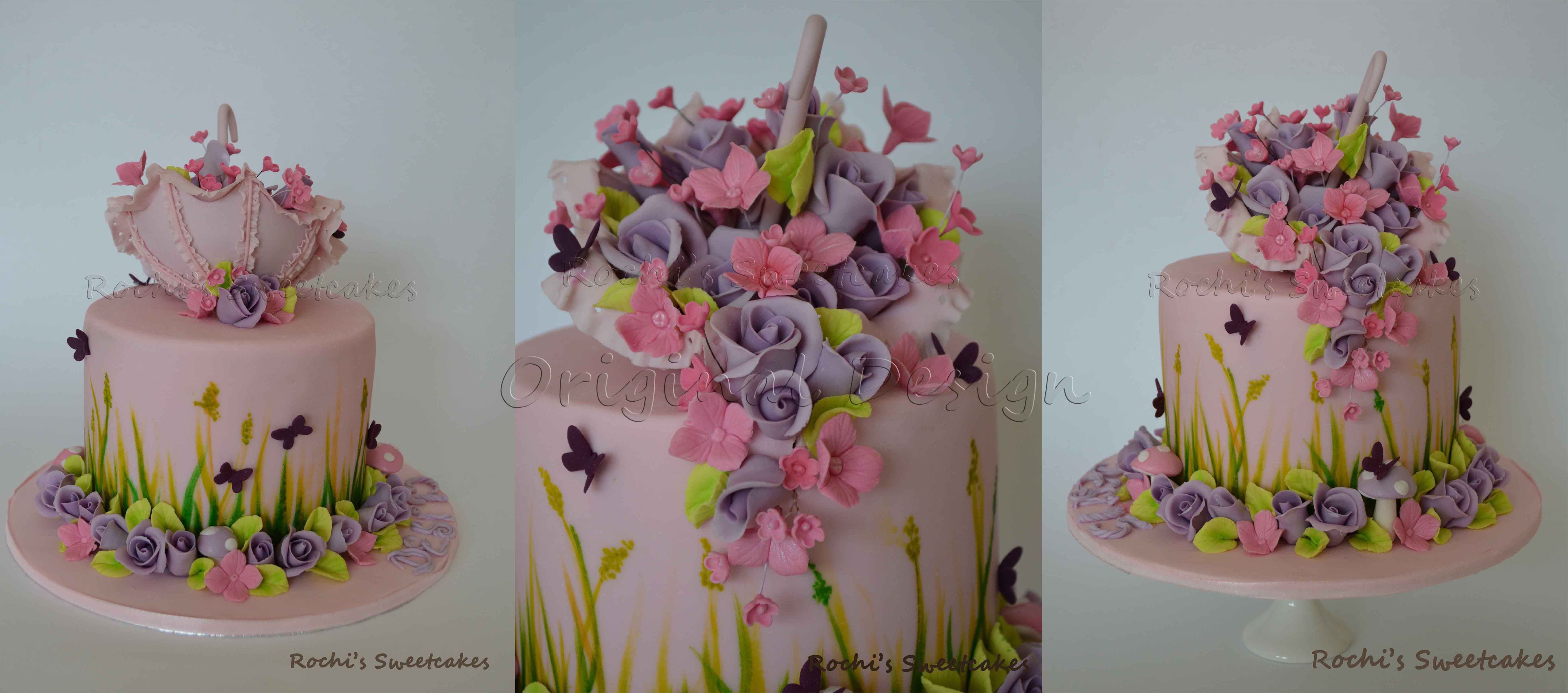 Umbrella With Images Cake Beautiful Cakes Cute Cakes