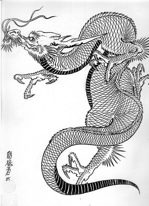 Dragon   Японский дракон, Эскиз и Эскизы татуировок