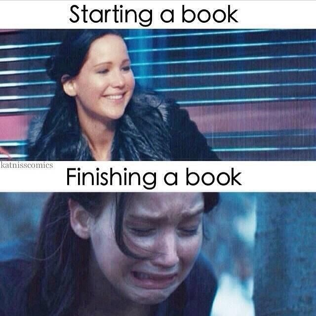 Yup. I do this in biographies ALL THE TIME!! At the end it is so sad. People be like ,oh look he died. Then there's me, that's soooo sad.