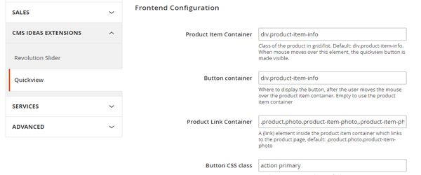 Magento 2 Extensie, Product details pop-up, configuratie