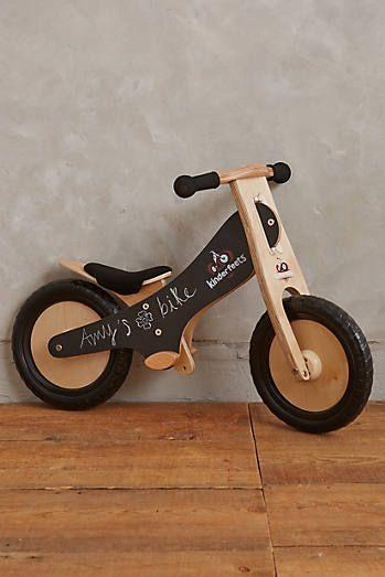 Blackboard Balance Bike Bicicleta De Madeira Briquedos De