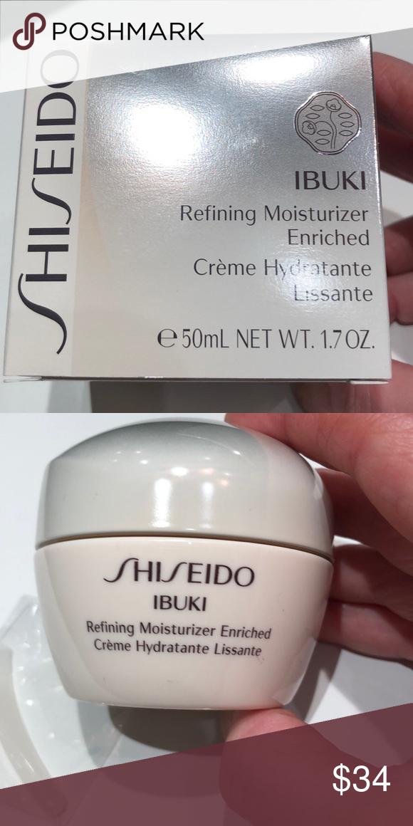 Shiseido Ibuki Refining Moisturizer Enriched Nwt Shiseido Shiseido Makeup Moisturizer