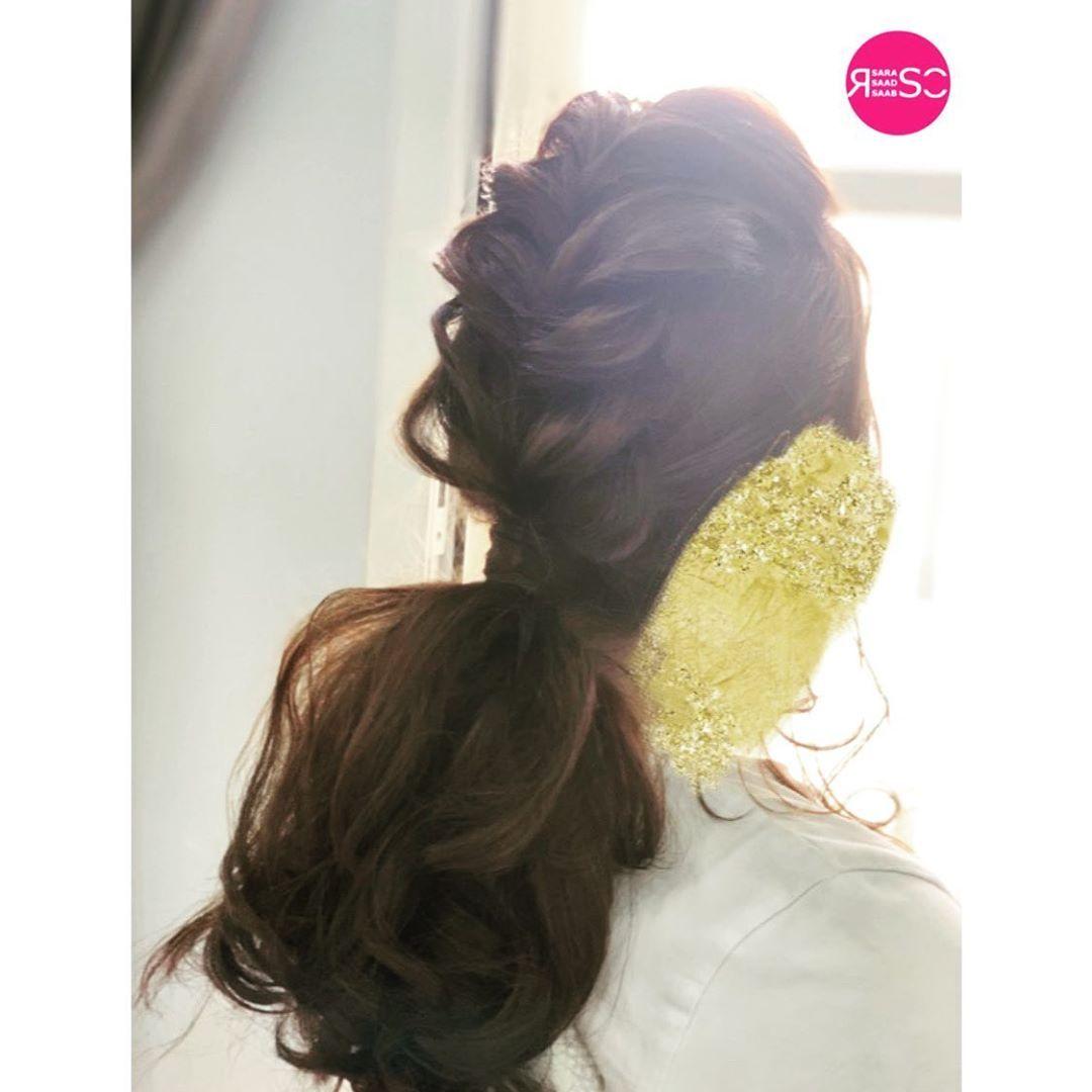 للحجوزات الكوافيرة آية 0531587785 تسريحات بسيطه تساريح تساريح عرايس ويف Messy Wedding Hair Wedding Hairstyles Baby Dress Wedding