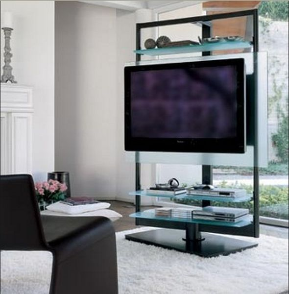 Modern Design Tv Stand Decorative And Modern Glass Lcd