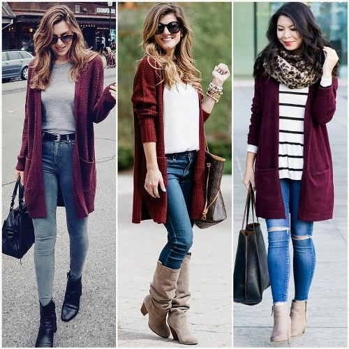 8549c75929a Fall burgundy outfit ideas – Just Trendy Girls