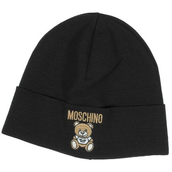 Moschino Women s Hats Moschino Teddy Bear Wool Blend Hat ( 73) ❤ liked on  Polyvore featuring accessories 4d986d2a7a30