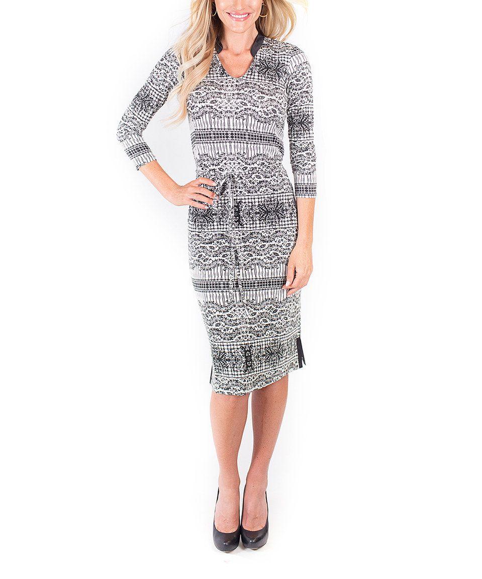 Love this gray metropolis sheath dress by downeast basics on zulily