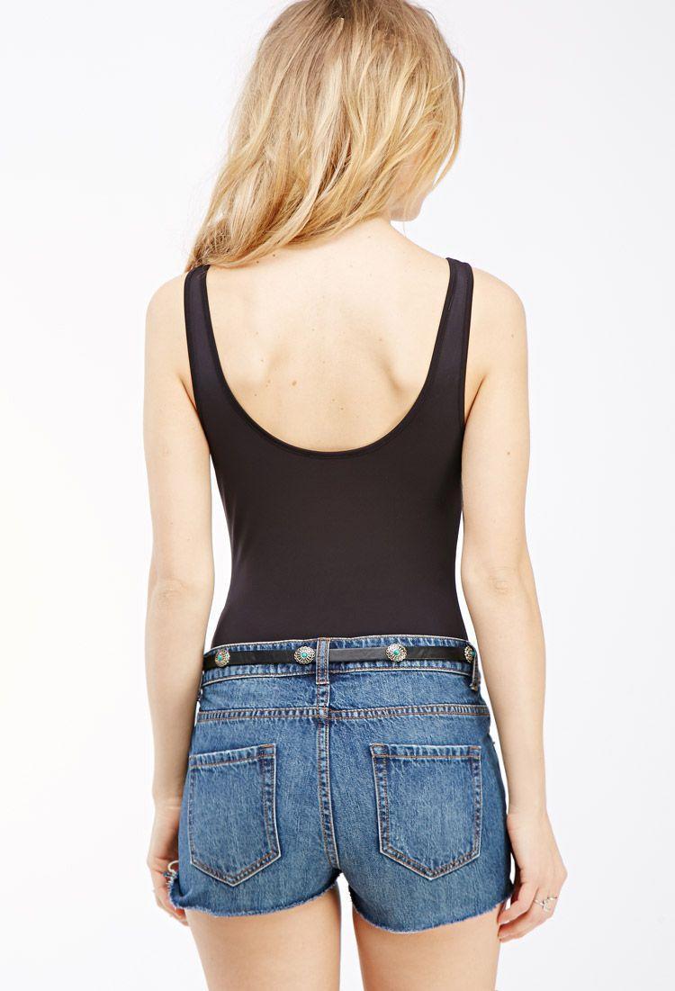 Scoop Back Bodysuit | FOREVER21 - 2000117583