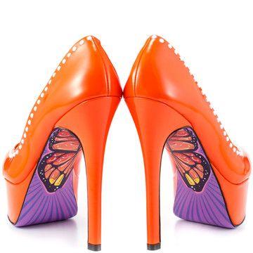 Monarchie Heels in Orange.