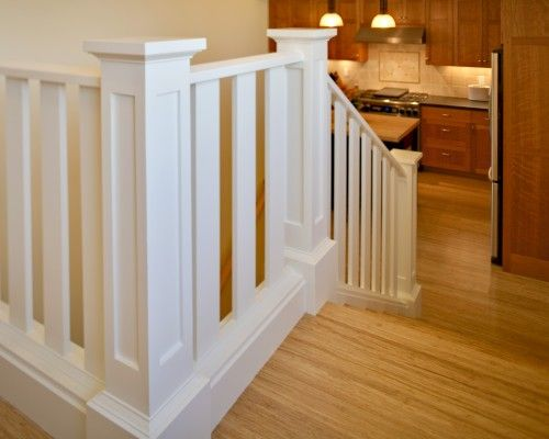 Stairrails Design Ideas Pictures Remodel And Decor Craftsman Staircase Wood Balusters Staircase Design