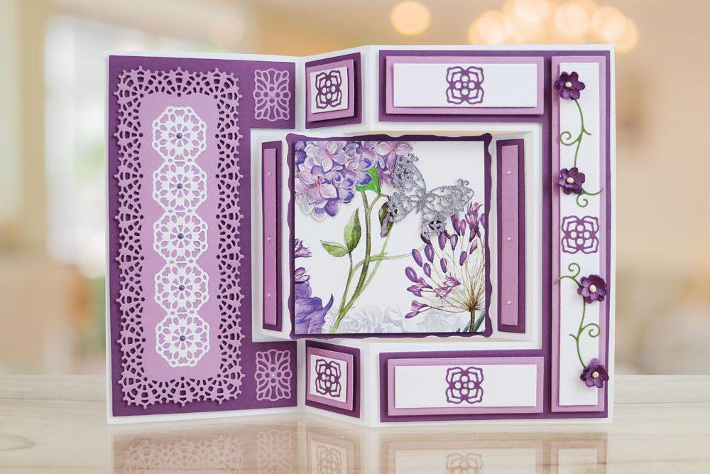 Tri-fold Card (ETL593) \u2013 Tattered Lace creativegirlcaveheartart
