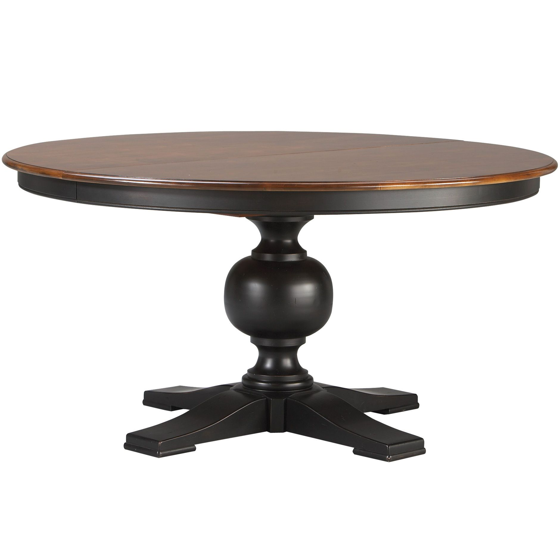 Cooper round dining table ethan allen i like the two for Round kitchen table with leaf