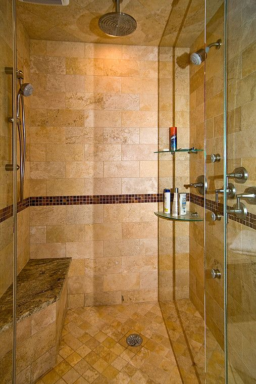 The multiple shower heads are replications of favorites experienced ...