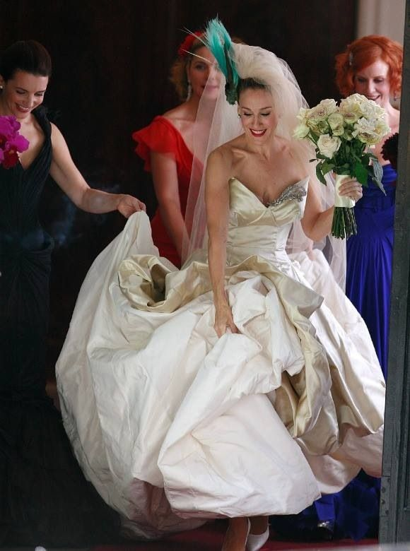 Sarah Jessica Parker Launches New Satc Style Bridal Shoe Collection Celebrity Wedding Dresses Celebrity Bride Wedding Dresses
