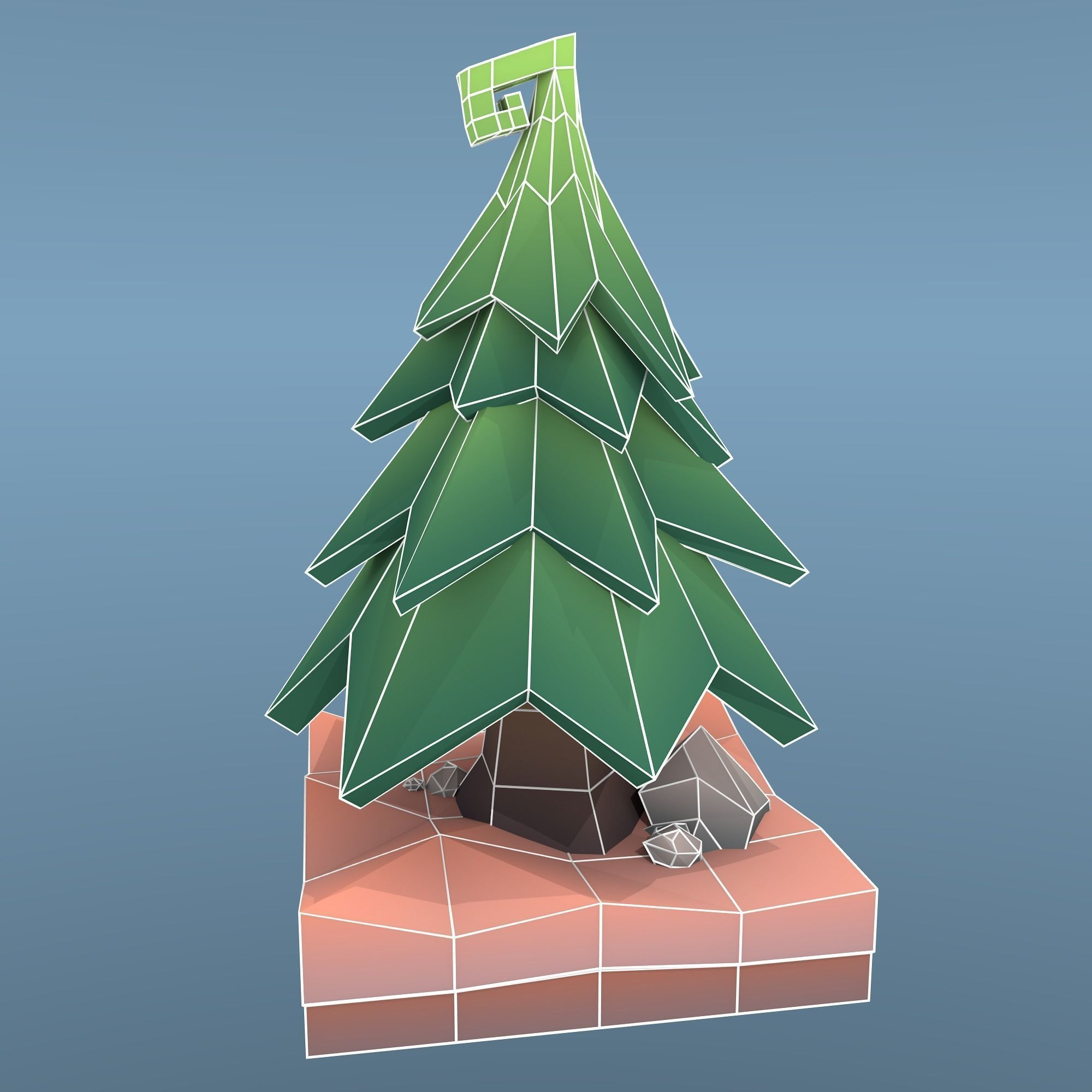 low poly tree - Polytree Christmas Tree