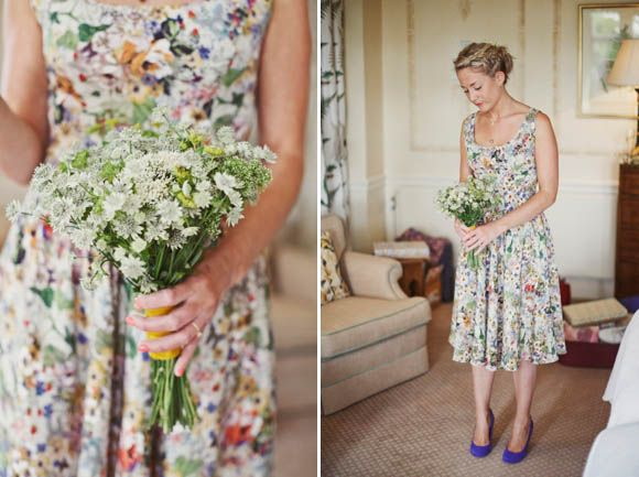 Edwardian Lace and Pretty Flowers in Her Hair ~ A Charming English Country Garden Wedding - Love My Dress UK Wedding Blog  Love, love these flowered dresses!