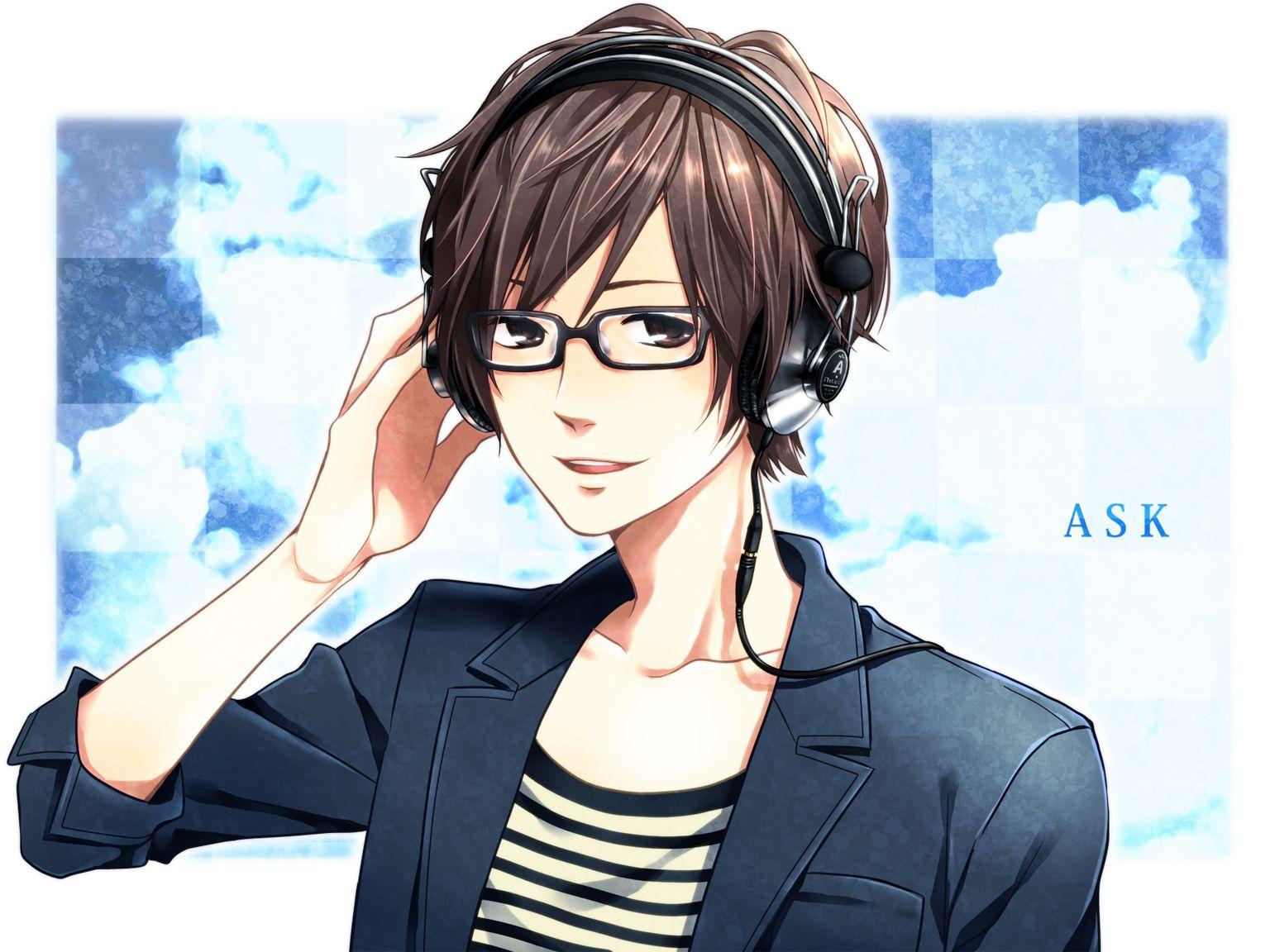 Похожее изображение Anime glasses boy, Anime guys with