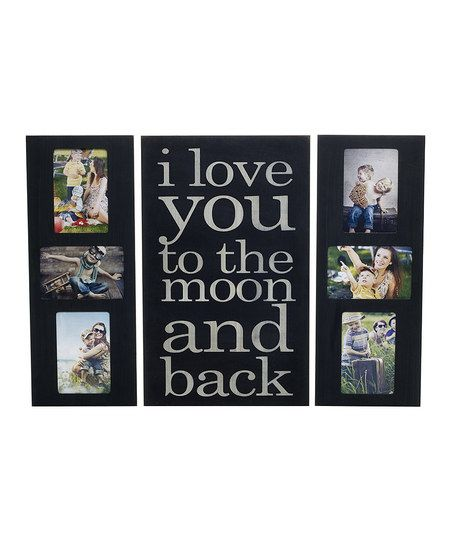 I Love You To The Moon Collage Wall Frame Plaque For The Home