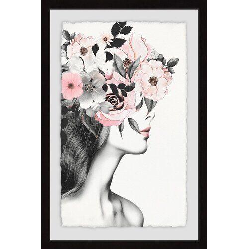 Photo of Gerahmtes Poster Pink Lips II East Urban Home Größe: 61 cm x 41 cm