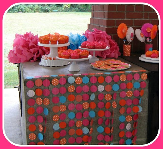 Fowl Single File: Polka Dot Party Dessert Table and Food