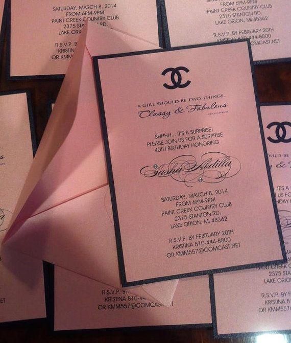 Chanel Invitation Chanel Theme Chanel Party Coco by PlaceOfEvents