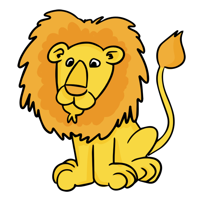 Lion animated. Elephant clipart free download