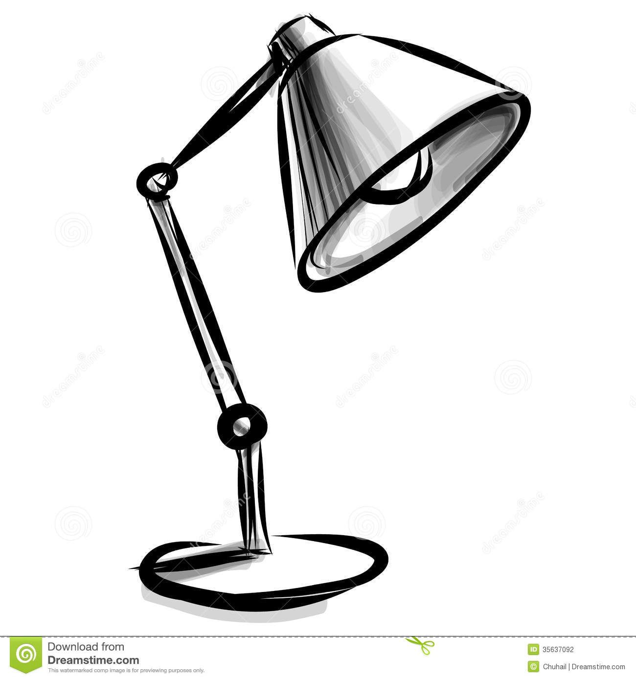 Http Thumbs Dreamstime Com Z Adjustable Table Lamp Isolated White Vector Sketch 35637092 Jpg Desk Lamp Black Table Lamps Lamp