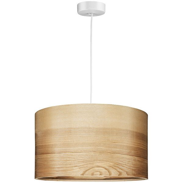 Pendant Light Natural Veneer Lampshade Scandinavian Style 229 Liked On Polyvore Featuring Home Scandinavian Lighting Pendant Light Scandinavian Style