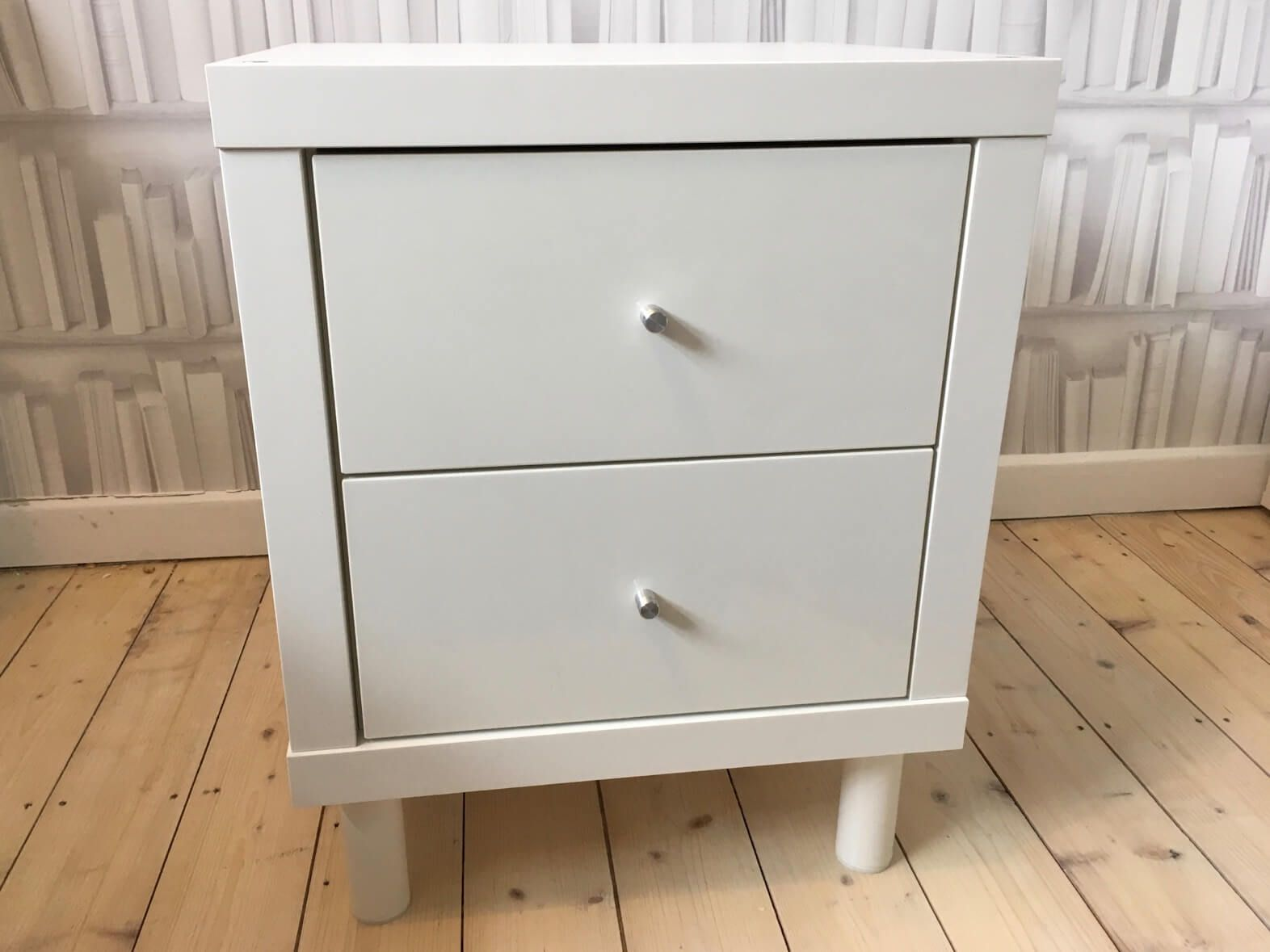 Small Side Table With Storage From Kallax Cube Ikea Hackers Ikea Side Table Side Table With Storage Small Side Table [ 1179 x 1572 Pixel ]