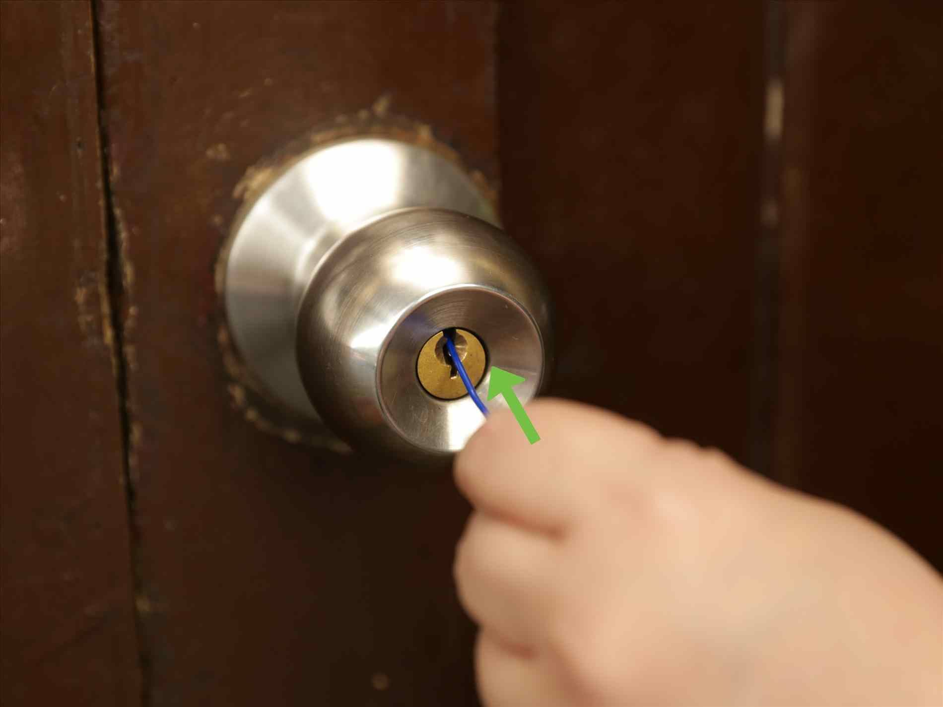 Pin On Door Knob Push Button Lock