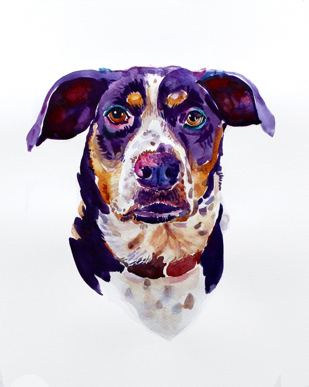 Custom Pet Portrait Pet Portrait Custom Painting Watercolor
