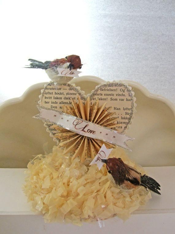 Love Birds Cake Topper Wedding Table Decor Bird Cake Topper
