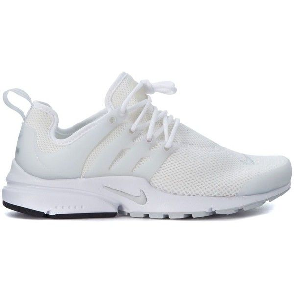 Sneaker Air Presto in White Elastic Mesh ($150) ❤ liked on Polyvore  featuring shoes