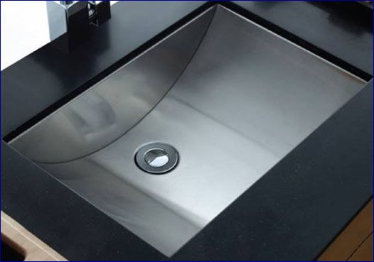 Charmant This Bathroom Undermount Sink By Cantrio Koncepts Has A Rectangular Shape  With Curvilinear Basin. The Sink Is Made Out Of High Quality 304 Stainless  Steel ...