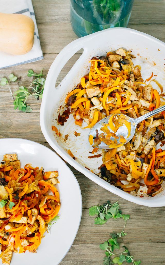 Tempeh Butternut Squash Noodle Bake