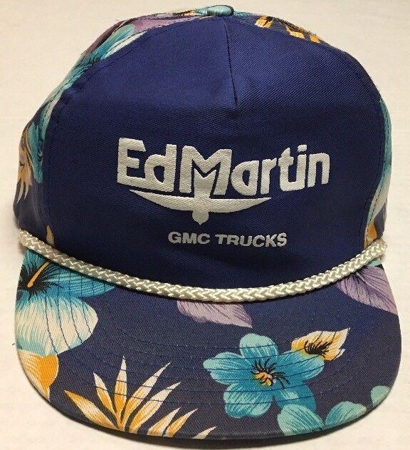 Ed Martin Gmc >> Vtg Ed Martin Gmc Trucks Hat Carmel Indiana Cap Vehicle Car