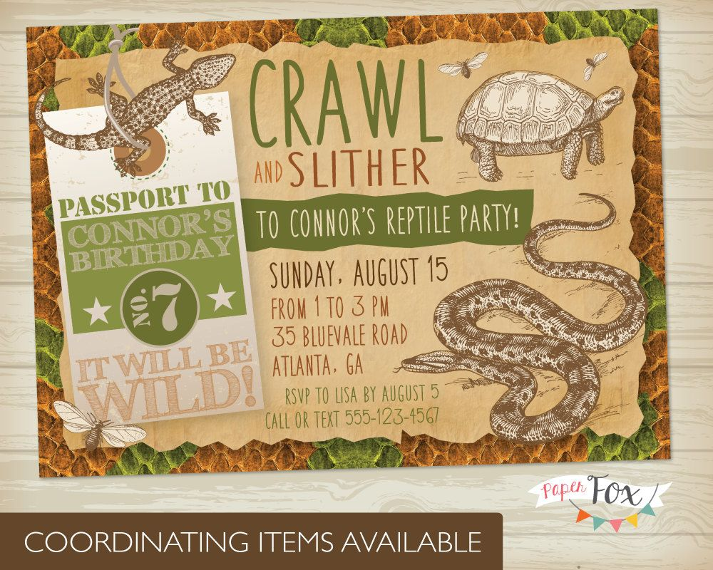 Snake birthday party invitations free templates cogimbo 10 free super bowl party invitations printable flyer templates a reptiles amphibians birthday filmwisefo Image collections