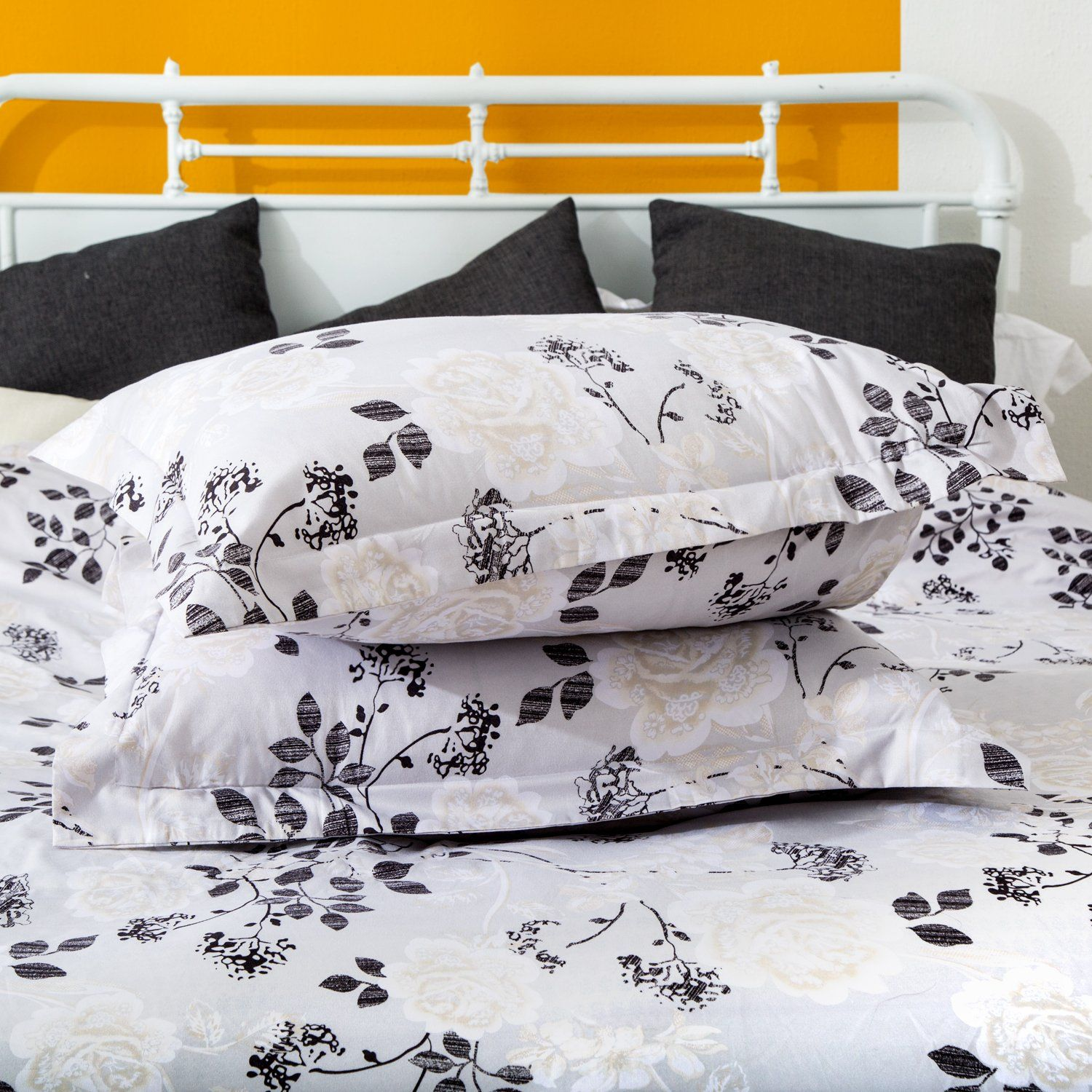 Duvet Cover And Pillow Shams 3 Piece Bedding Sets Hypoallergenic
