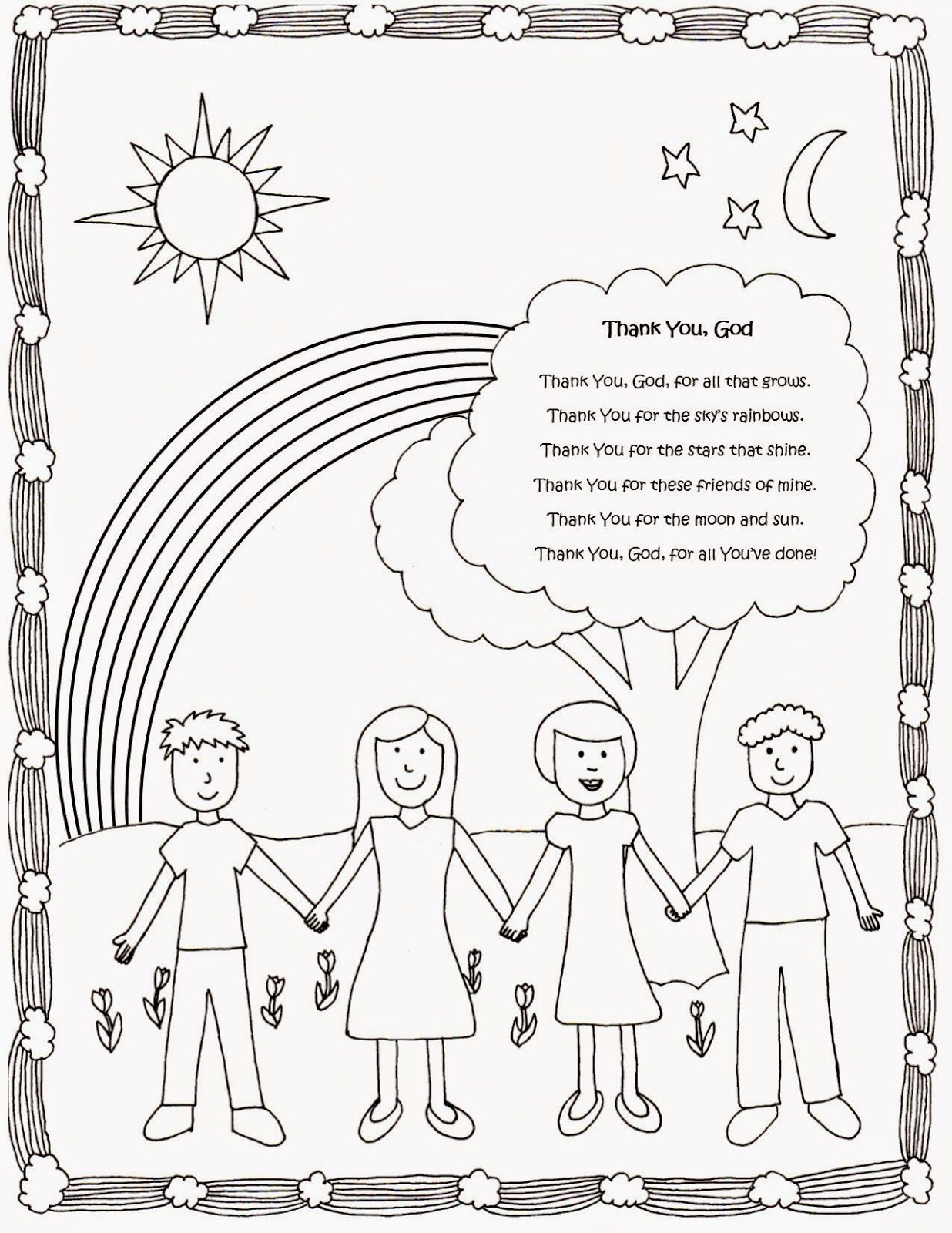 Drawn2bcreative Cute And Free Coloring Page With Thank You God