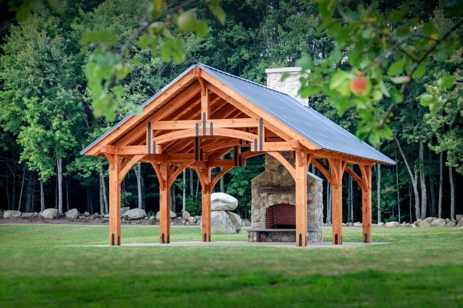 20' x 24' Alpine Timber Frame Pavilion Outdoor pavilion