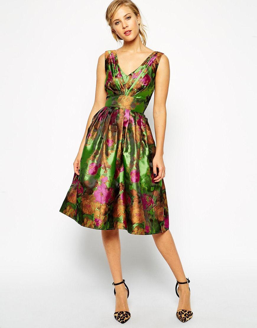 ASOS Floral Jacquard Prom Dress | Bridesmaids | Pinterest ...
