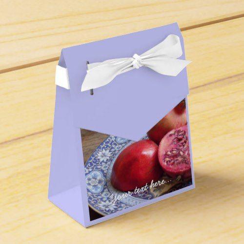 Pomegranate Fruit Still Life Favor Box