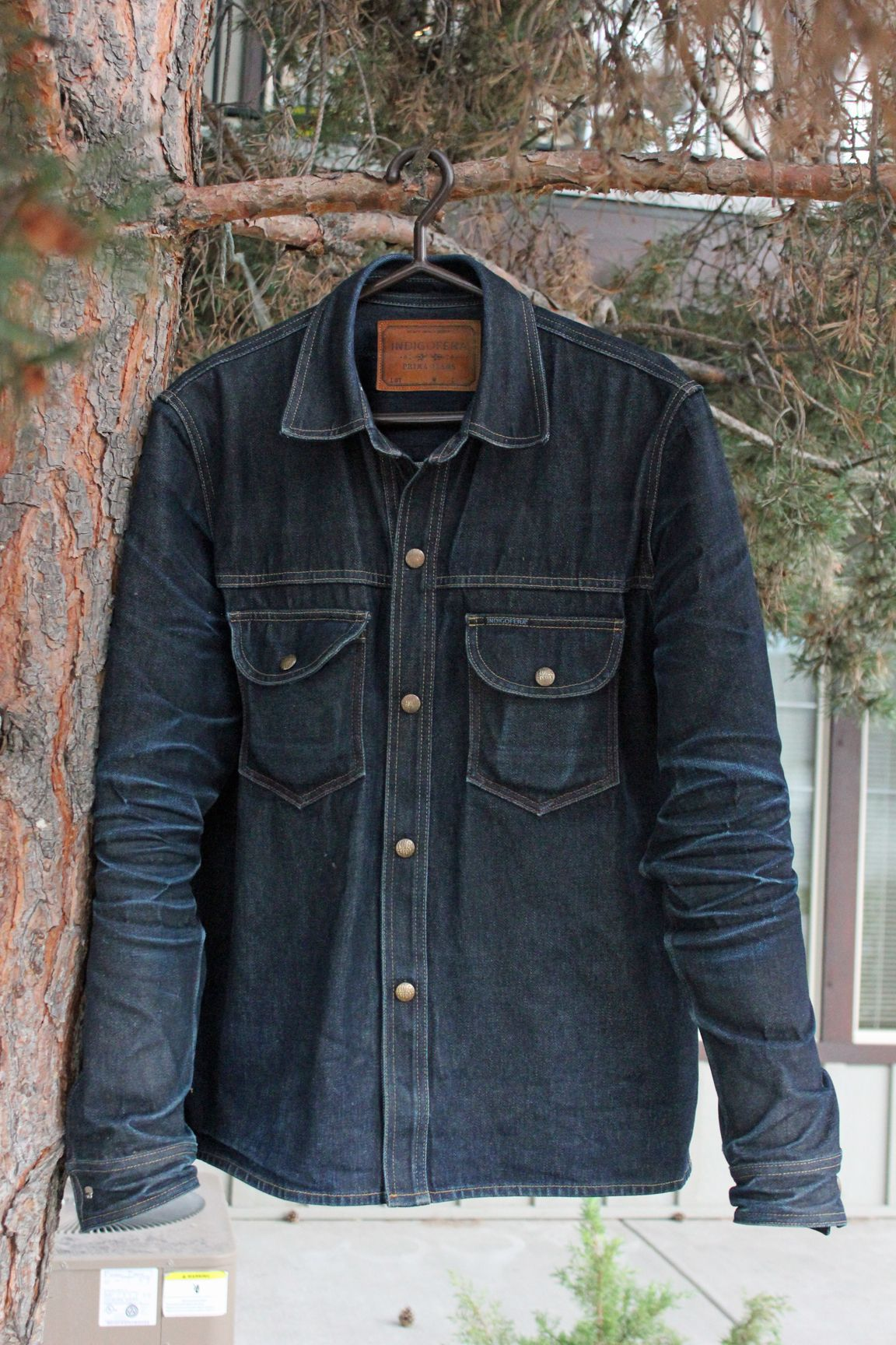 6f5c879b3e Heavyweight denim shirt - Indigofera 14 oz